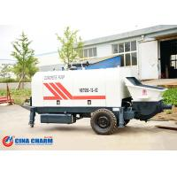 China 260L Hydraulic Trailer Mounted Concrete Pump 31.5Mpa Pumping System Pressure on sale