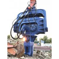 Buy cheap Blue Excavator Mounted Pile Driver , Hydraulic Pile Driver For Excavators from wholesalers