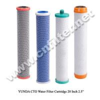 Activated Carbon Block Filter Cartridge(CTO20Black) Manufactures