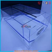 high quality plexiglass shoe box for package,wholesale custom clear acrylic shoe box hupbox sneaker display box Manufactures