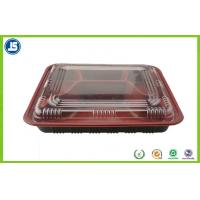 Customized Take Away Plastic Food Packaging Trays With Transparent Lid Manufactures