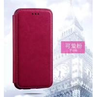 Pink Iphone 6 Plus Leather Wallet Case , Book Cover Protective Magnetic Leather Case Manufactures