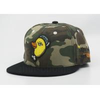 Cool Camouflage Printed Baseball Caps Acrylic 6 Panel 3D Puff / Flat Embroidery Manufactures