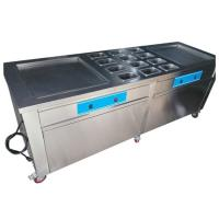 Stainless Steel Thailand Fried Ice Cream Machine With Double Square Pans Manufactures