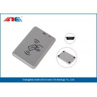Handy Compact Mifare RFID Reader , Smart Chip Card Reader Writer USB Support Power Manufactures