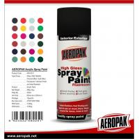 China Colorful with fast dry all purpose spray paint Acrylic Resin AEROPAK painting on sale