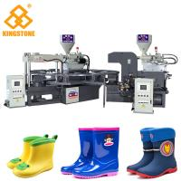 China PVC Short Boot Shoe Factory Production Line , Rotary Injection Molding Machine  on sale
