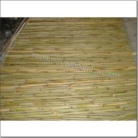 China Garden bamboo fencing -wire lines woven inside on sale