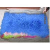 Quality 10 -15cm Wool Large Sheepskin Area Rug , Sheepskin Runner Rug For Home Sofa Seat Cover for sale