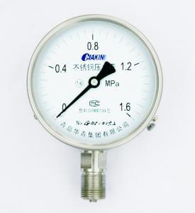 China stainless steel pressure gauge on sale