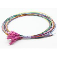 12 Colored LC Fiber Optic Pigtail 100% Clean Patch Cords Light Weight Simple Structure Manufactures