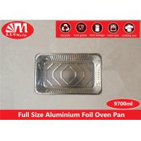 China Big Size Disposable Aluminum Foil Pans Container One Compartment Cooking Useage on sale