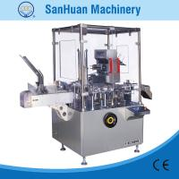 ALU - PVC Blister / Bottle Feeding Packing Vertical Cartoning Machine With PLC Control Manufactures
