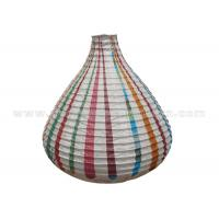 China Unique Shaped Rice Paper Lamp with Circus Printing , Wedding Paper Lanterns on sale