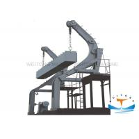 Steel Gravity Luffing Arm Type Davit 85 Kn Working Load With Boat Own Gravity Power Manufactures