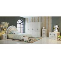 Durable PU Leather Khaki  and White Option Color With 2.4 Meter  High Gloss Wardrobes Manufactures