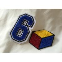 China Personalized Embroidered Number Patches , Iron On Embroidered Letter Patches on sale