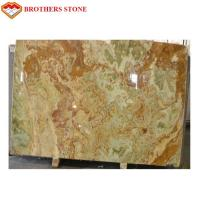 Light Green Onyx Jade Green Stone Flooring With 15-18mm Thickness Manufactures