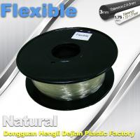 Transparent Rubber Flexible 3D Printer Filament Consumables 1.75mm  / 3.0 mm Manufactures