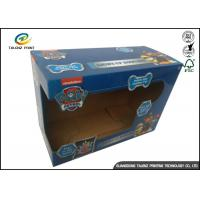 Plastic Window Corrugated Packaging Box For Baby Shoes Or Clothes Manufactures