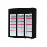 50 / 60hz Glass Door Freezer With Five Layers Shelves For Frozen Sea Food Manufactures