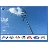 Hot Dip Galvanized Suspension Straight Electric Steel Pole with Flange