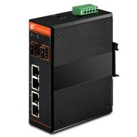 Gigabit Central Ethernet PoE Switch,managed,4x10/100/1000Base-TX + 2x1000Base-FX SFP / 4xPoE Manufactures