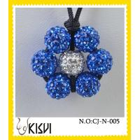 China High quality guaranteewhite and blue flower handcrafted crystal jewelry necklace on sale