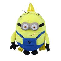 3D Cartoon Kids Plush Backpack Mini Size Yellow Color CPC Certification Manufactures