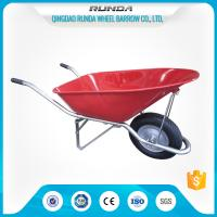 Construction Heavy Duty Wheelbarrow WB8900 Pneumatic Wheel 16x4.00-8 180kgs Load Manufactures