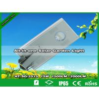 Hitechled 15W Integrated Solar LED Garden Light, Alumbrado Publico Solar All In One Manufactures
