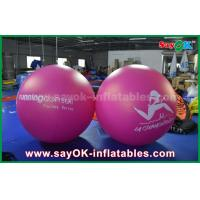 China Giant 2m DIA PVC Red Inflatable Balloon Outdoor Advertising Inflatable Helium Balloon on sale
