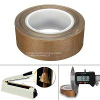 Heat Resistance PTFE  Tape 0.13MM Coated Fiberglass With Silicone Adhesive Manufactures