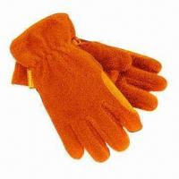 Polar Fleece Gloves with 280g/m² Anti-piling Quality, Made of 100% Polyester Material Manufactures
