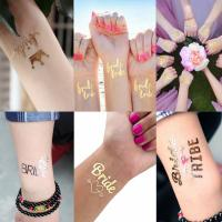 Bride temporary gold tattoo Manufactures