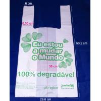 large Biodegradable PE T-Shirt Plastic Bag for grocery , 500mm length Manufactures