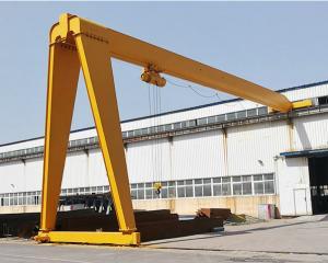 China Span 35m 5ton 50ton BMH Single Girder Semi Gantry Crane on sale