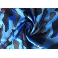Camouflage Printing Single Jersey Fabric Polyester Spandex Fabric For T - Shirt Manufactures