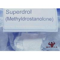 Medicine Grade Raw Hormone Powders Superdrol / Methasterone Powder CAS 3381-88-2 Manufactures