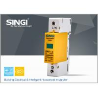 1 Pole Yellow Surge protector Device , Solar / DC lightning protection system Manufactures