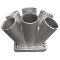 China 304 Stainless Steel Metal Casting Spike Turbo Header Manifold Merge Collector T3 T4 on sale