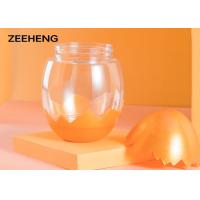 China Food grade wholesale logo printed egg shape plastic bottle water cup for sale