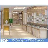 OEM White  Jewellery Showroom Counter Designs With Led Light Manufactures
