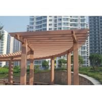 Wood Plastic Composite Projects / WPC Garden Shelf Decorative Board Manufactures