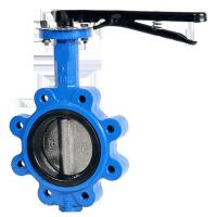 Corrosion preventive manufacturers cast iron ONE STEM NO PIN LUG BUTTERFLY VALVE