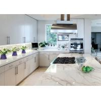 Natural Color Pattern Quartz Kitchen Countertops Non Slip Montary Manufactures