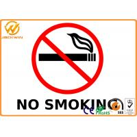 Outdoor No Smoking Warning Signs , High Intensity Reflective Smoking Prohibited Sign 0.5 - 3 mm Thick Manufactures
