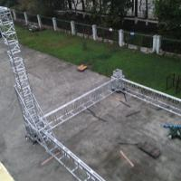 Big Event Aluminum Alloy Folding Truss System , Trade Show Booth Truss 1000mm X 580mm Manufactures