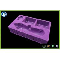 Cosmetic Packaging Inner Flocking Tray , Customized Plastic Blister Packaging Manufactures