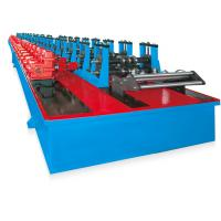 Buy cheap Working Speed 12-15m / Min Rack Shelf Roll Forming Machine With Cr 12 Quenched from wholesalers